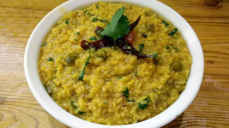 Perfect Moong Dal Khichdi With Hemp Seed Oil